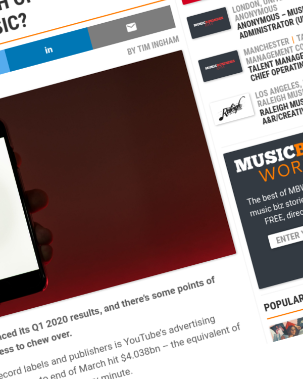 Fairness Rocks News YouTube is generating $32k every minute – but how much of that money is being driven by music?