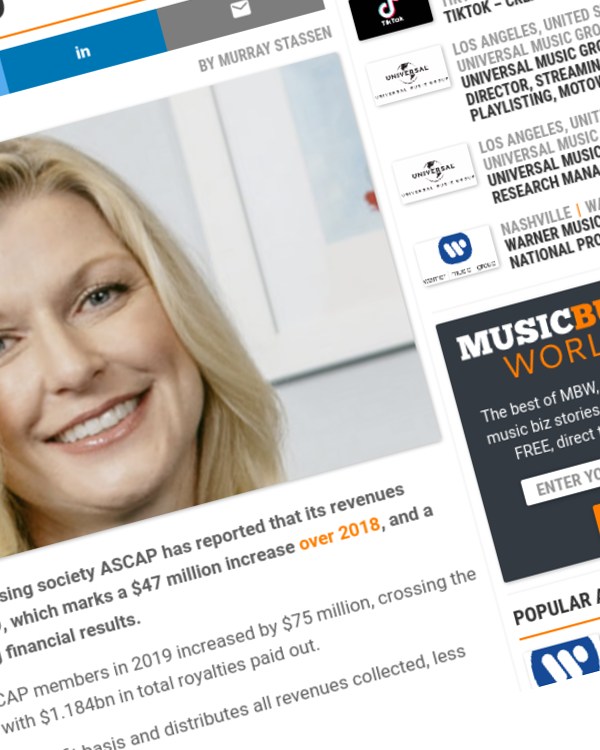 Fairness Rocks News ASCAP paid out $1.18bn to songwriters and publishers in 2019