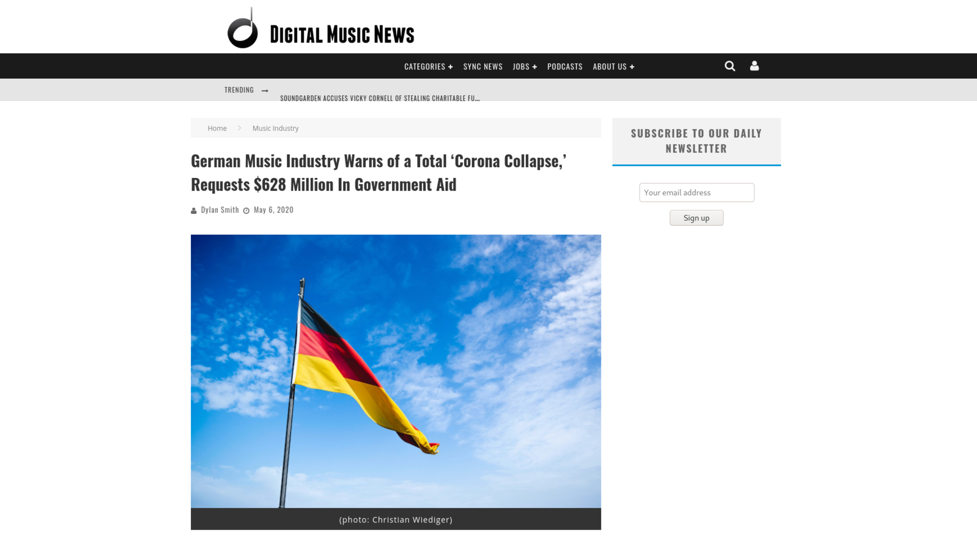 Fairness Rocks News German Music Industry Warns of a Total 'Corona Collapse,' Requests $628 Million In Government Aid
