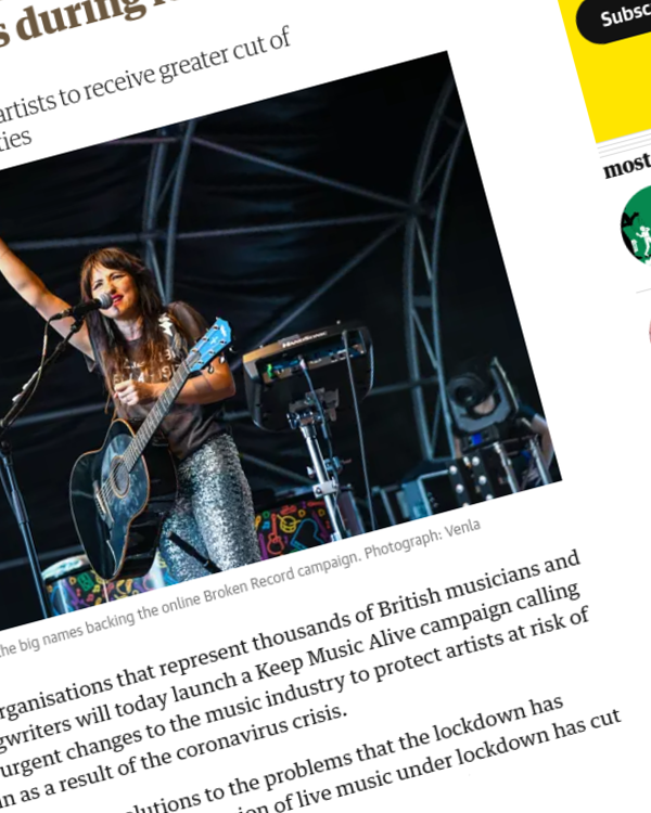 Fairness Rocks News Musicians call for industry shake-up to protect artists during lockdown