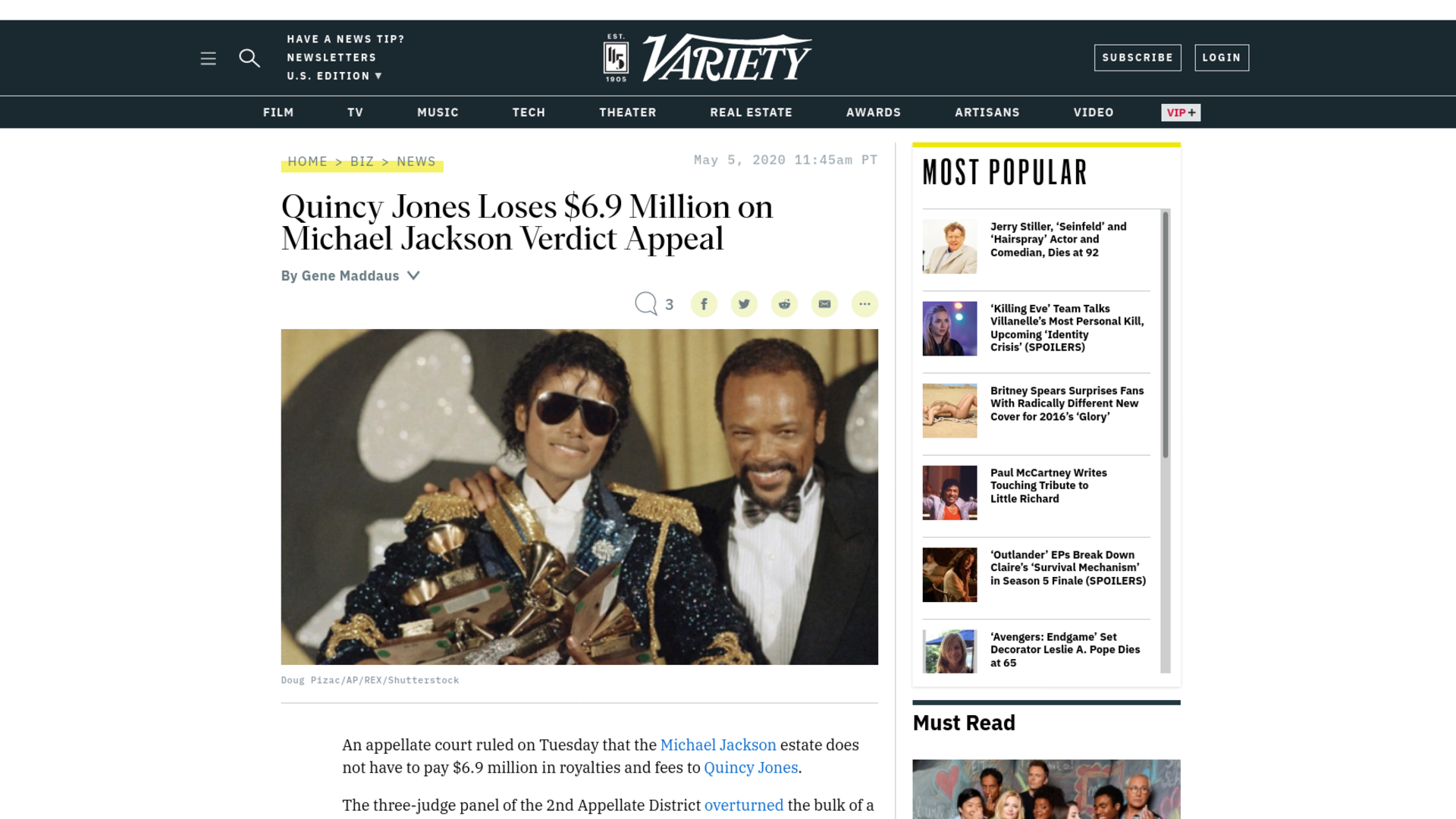 Fairness Rocks News Quincy Jones Loses $6.9 Million on Michael Jackson Verdict Appeal