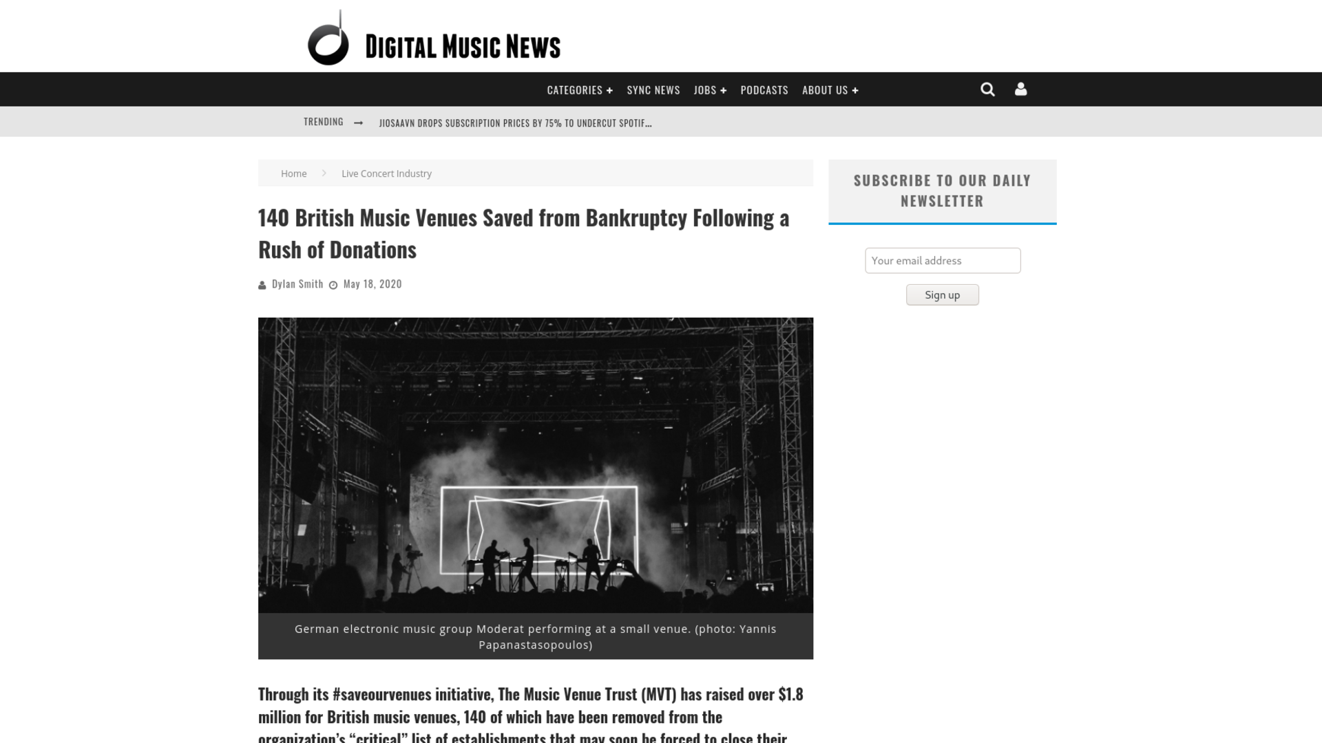 Fairness Rocks News 140 British Music Venues Saved from Bankruptcy Following a Rush of Donations