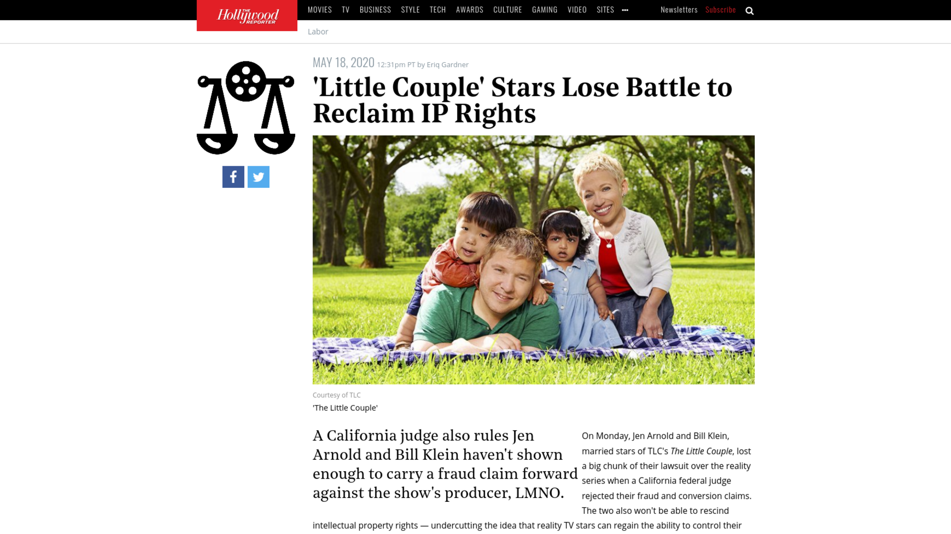Fairness Rocks News 'Little Couple' Stars Lose Battle to Reclaim IP Rights