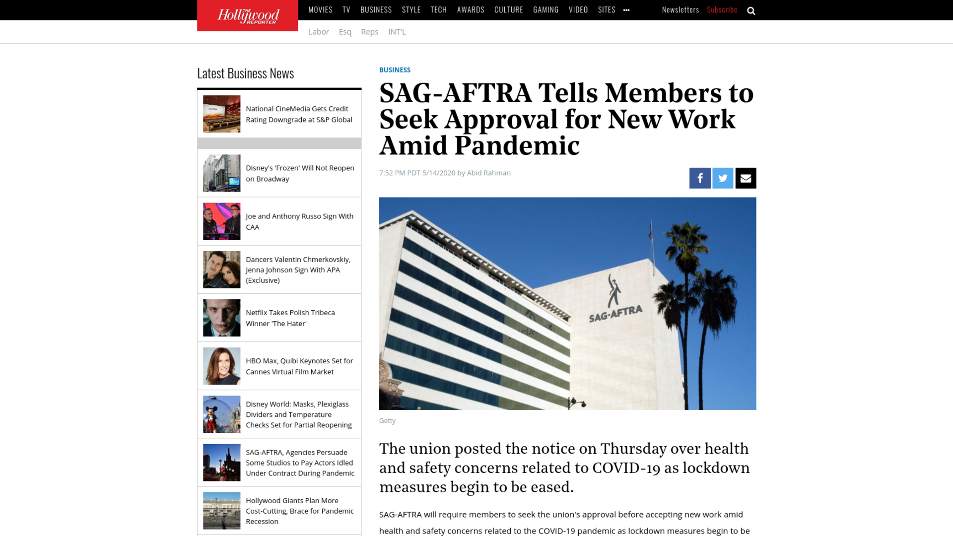 Fairness Rocks News SAG-AFTRA Tells Members to Seek Approval for New Work Amid Pandemic