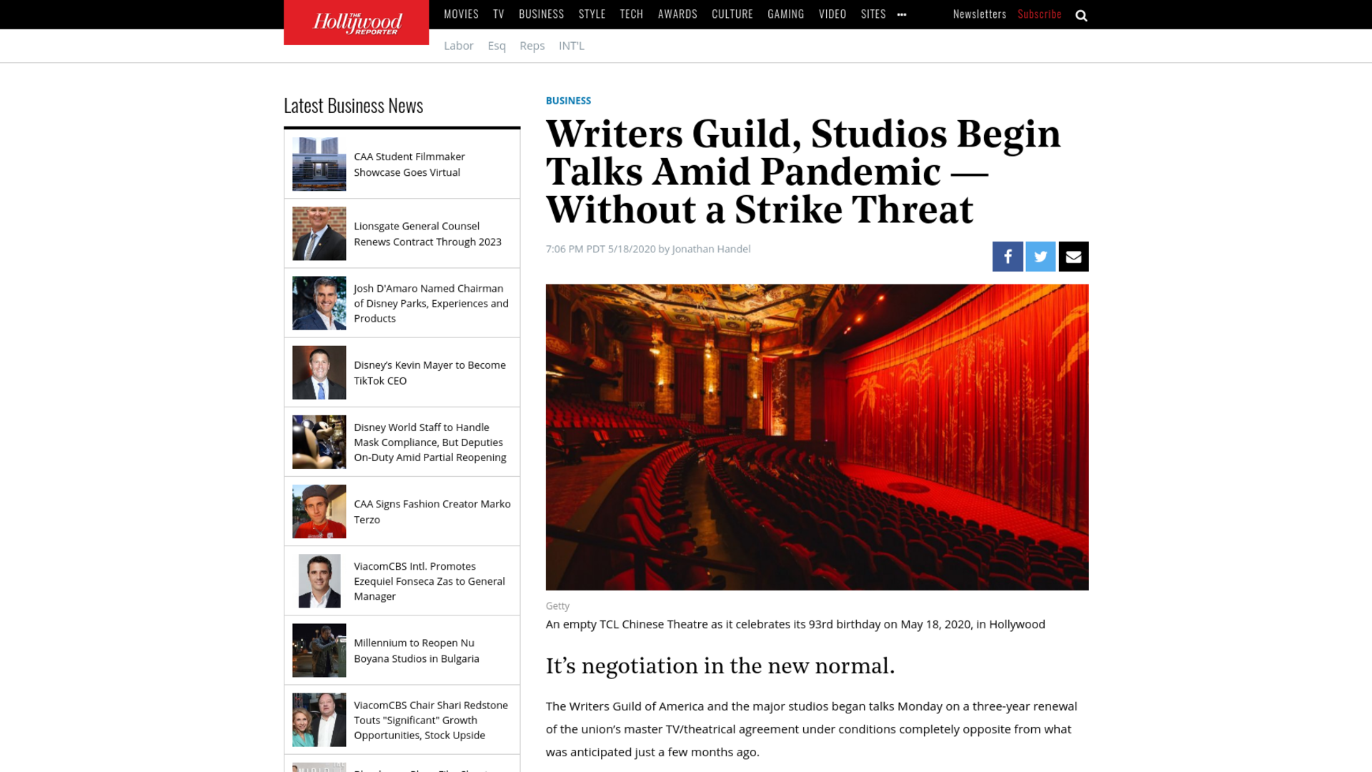 Fairness Rocks News Writers Guild, Studios Begin Talks Amid Pandemic — Without a Strike Threat