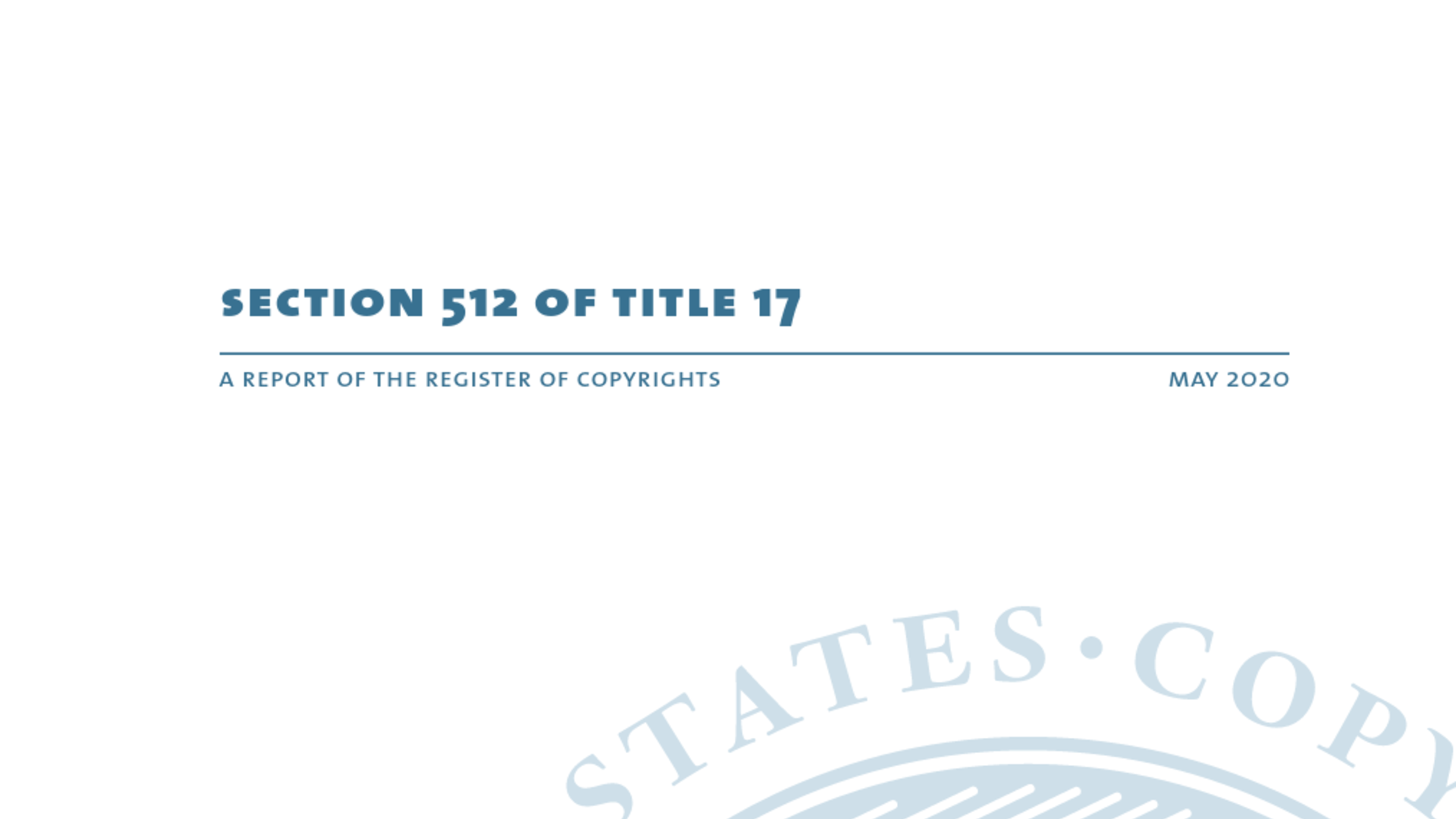 Fairness Rocks News United States Copyright Office Report: An Analysis of DMCA Section 512