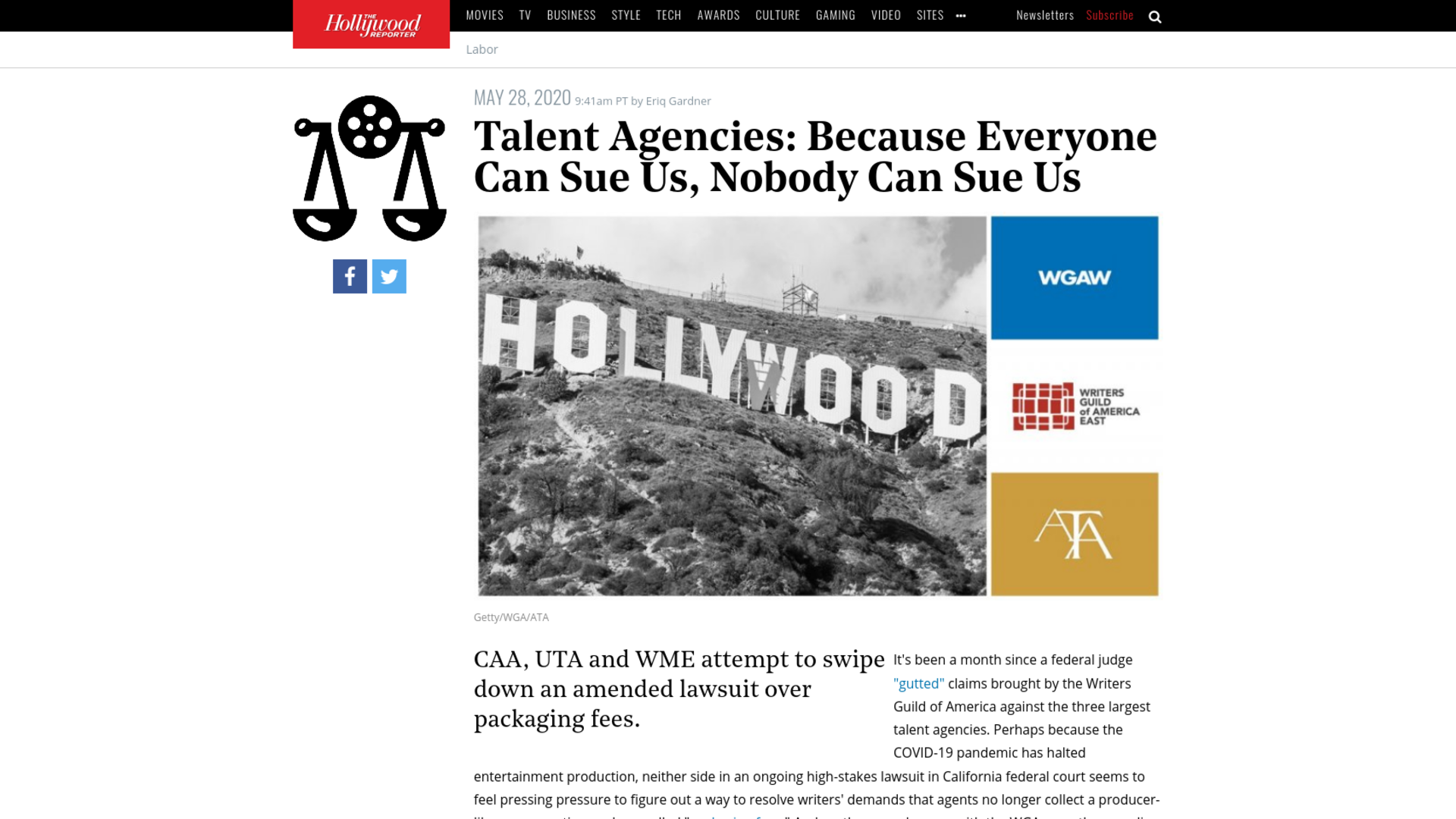Fairness Rocks News Talent Agencies: Because Everyone Can Sue Us, Nobody Can Sue Us