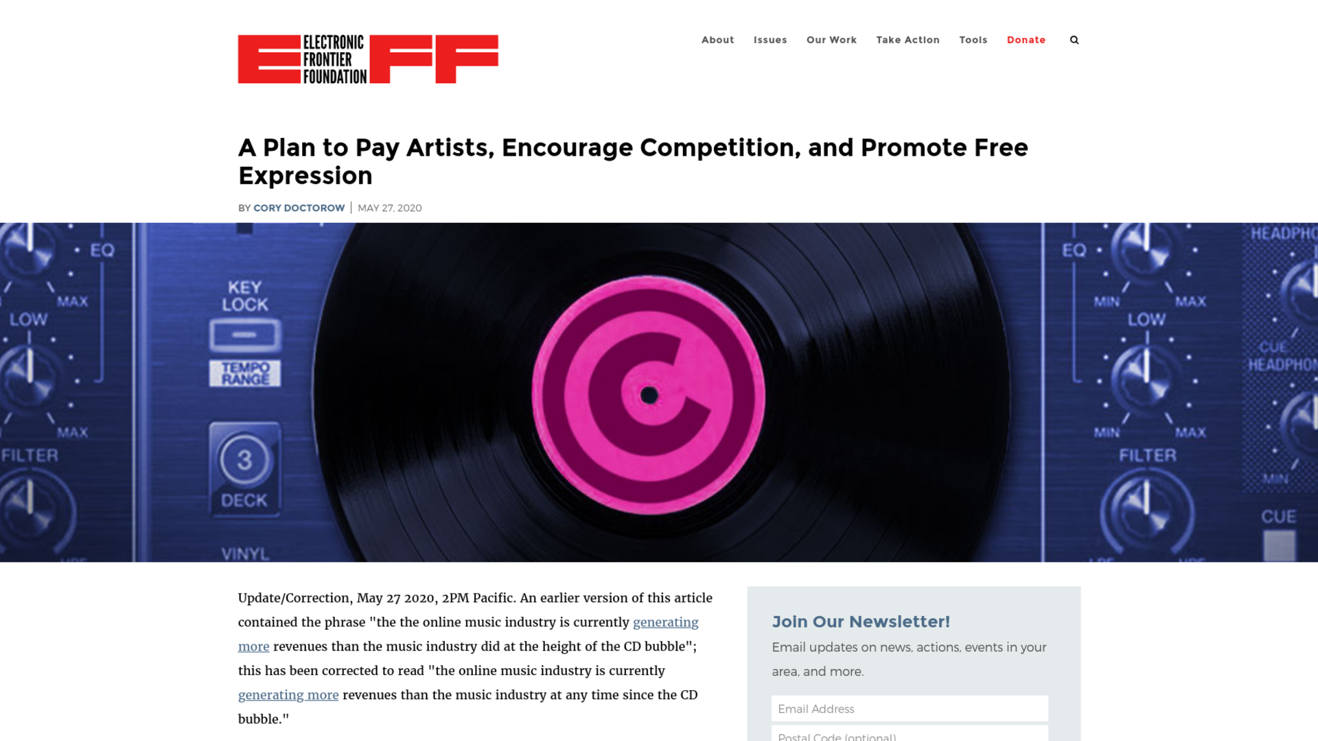 Fairness Rocks News A Plan to Pay Artists, Encourage Competition, and Promote Free Expression