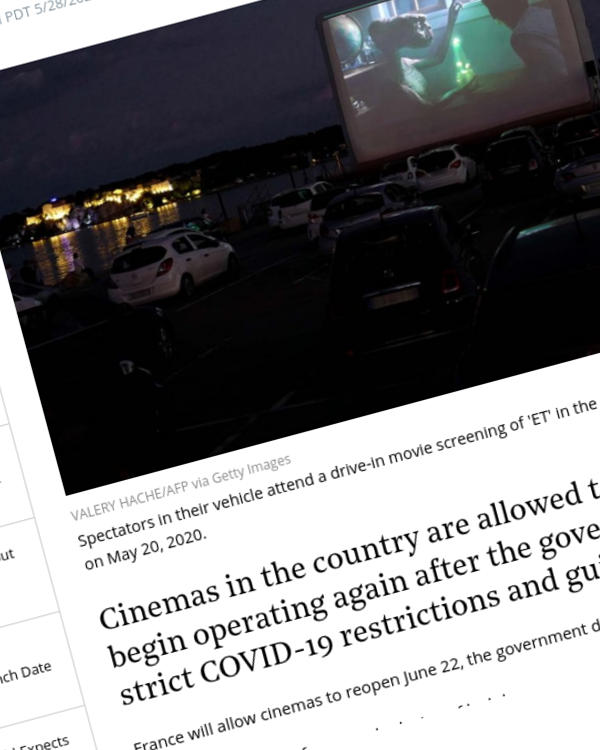 Fairness Rocks News France Plans to Reopen Movie Theaters on June 22