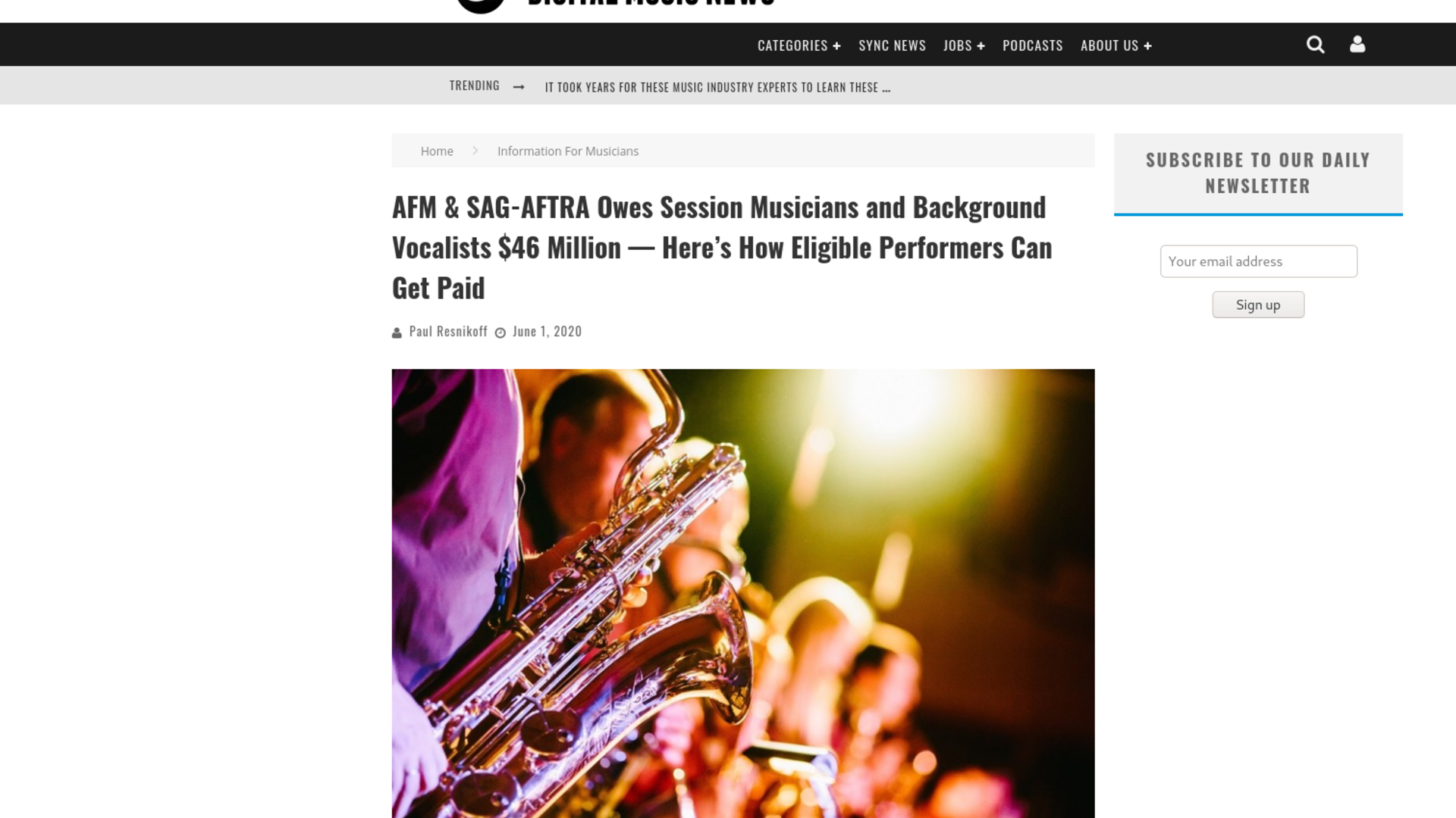 Fairness Rocks News AFM & SAG-AFTRA Owes Session Musicians and Background Vocalists $46 Million — Here's How Eligible Performers Can Get Paid