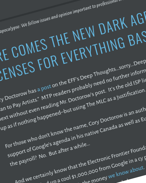 Fairness Rocks News Here Comes the New Dark Age: Blanket Licenses for Everything Based on MMA