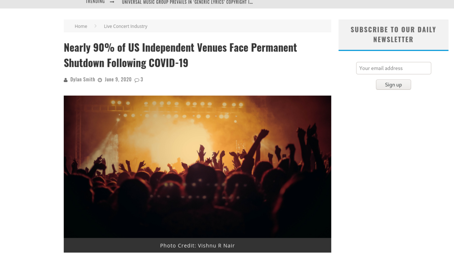 Fairness Rocks News Nearly 90% of US Independent Venues Face Permanent Shutdown Following COVID-19