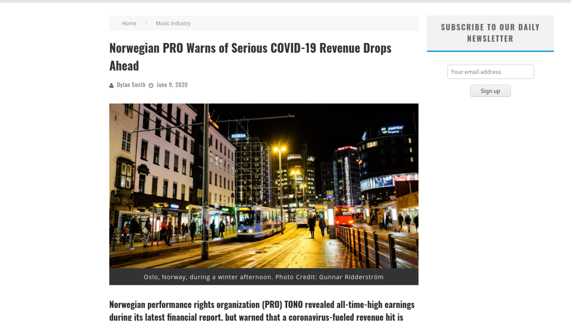 Fairness Rocks News Norwegian PRO Warns of Serious COVID-19 Revenue Drops Ahead