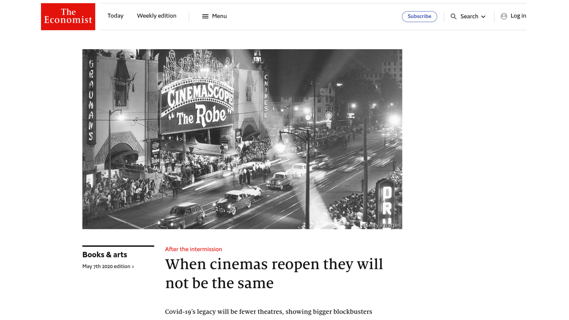 Fairness Rocks News When cinemas reopen they will not be the same