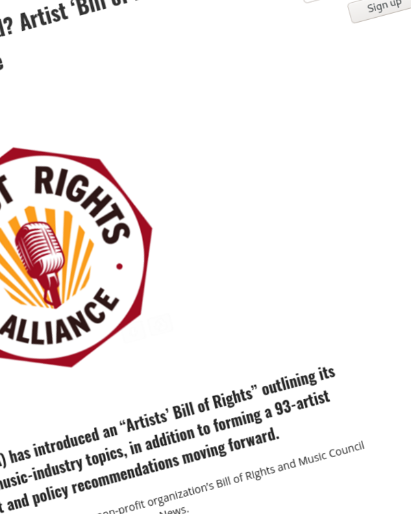 Fairness Rocks News What Rights Should Artists Demand? Artist 'Bill of Rights' Proposed by Artist Rights Alliance