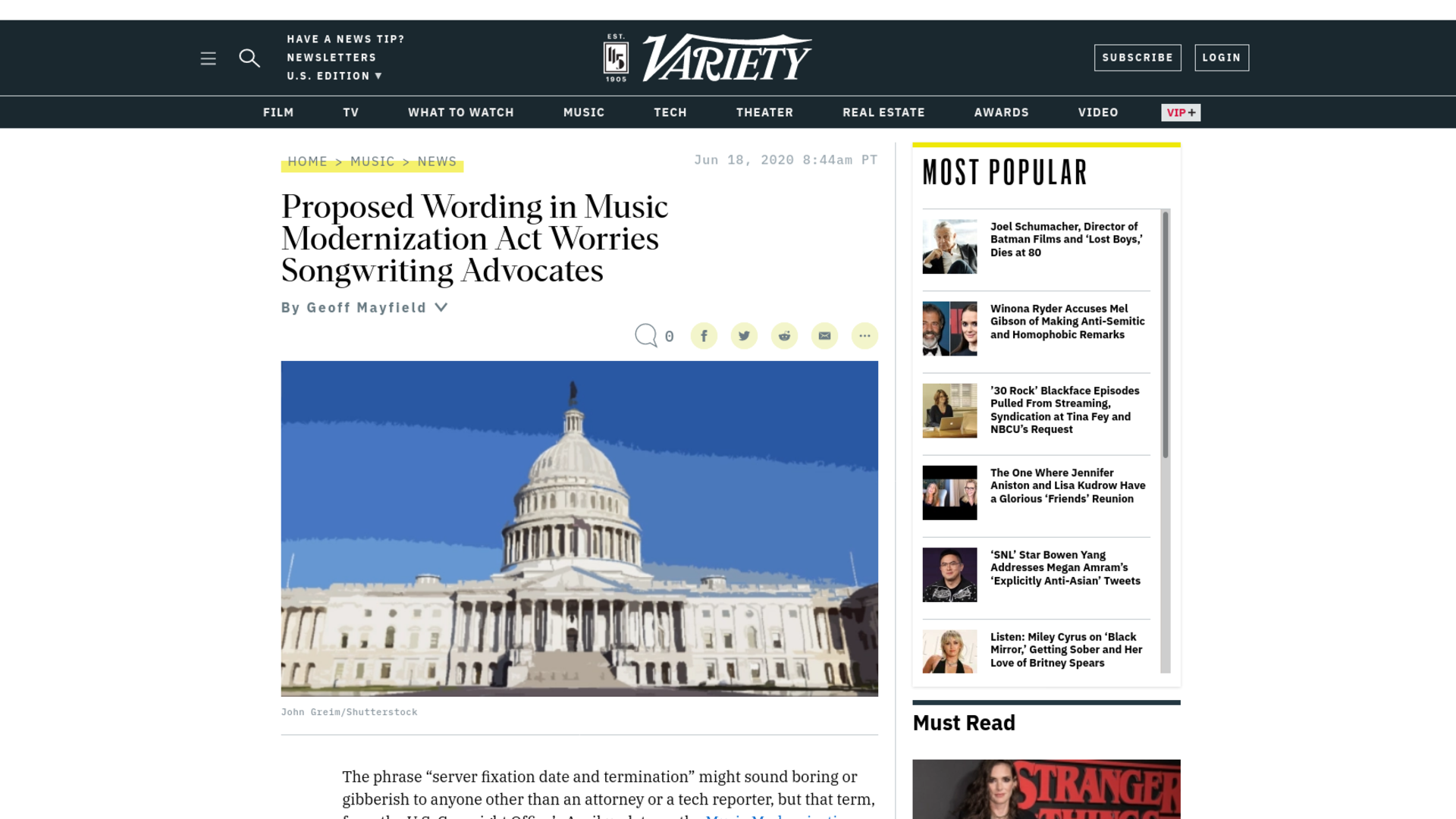 Fairness Rocks News Proposed Wording in Music Modernization Act Worries Songwriting Advocates