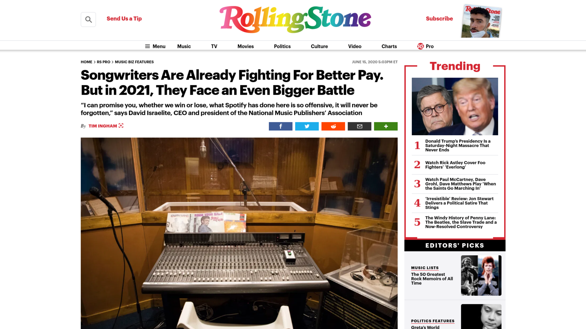 Fairness Rocks News Songwriters Are Already Fighting For Better Pay. But in 2021, They Face an Even Bigger Battle