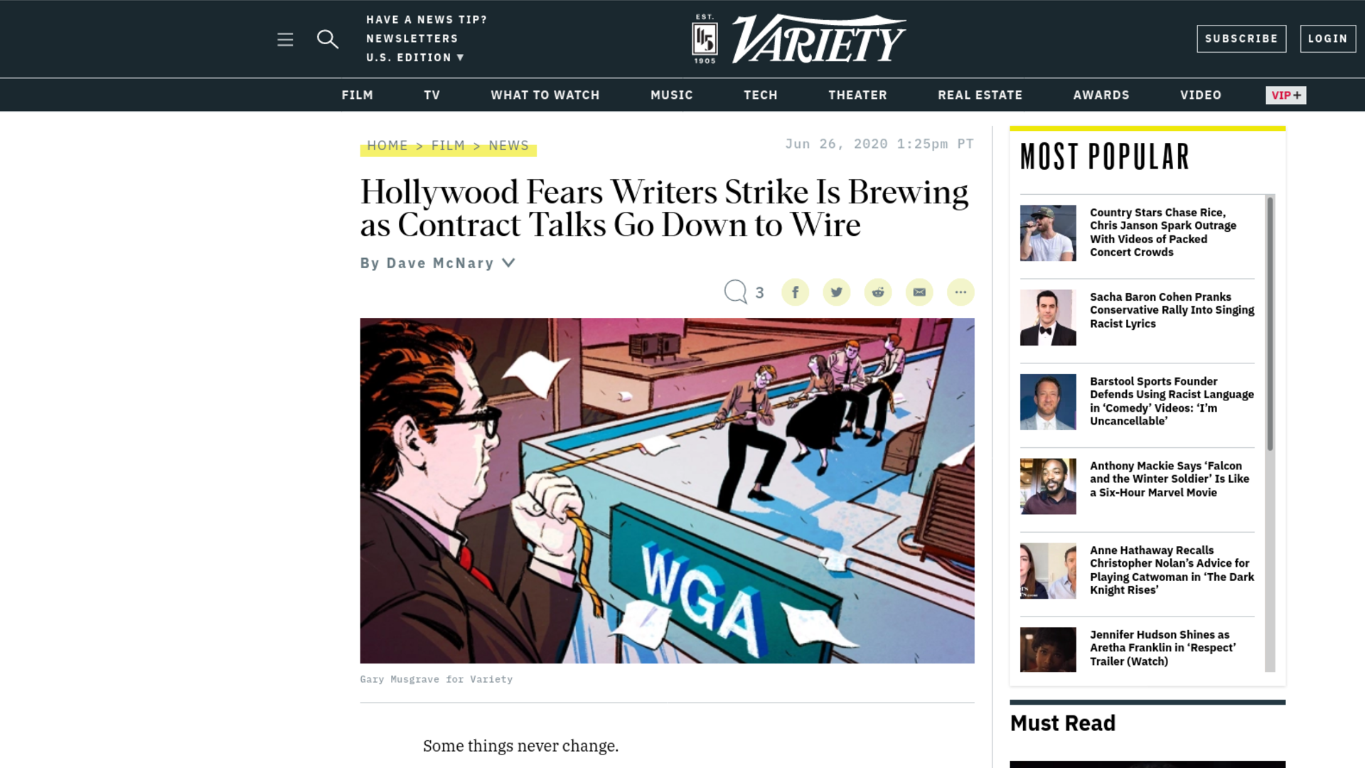 Fairness Rocks News Hollywood Fears Writers Strike Is Brewing as Contract Talks Go Down to Wire