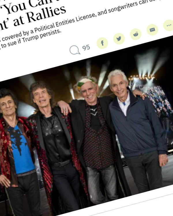 Fairness Rocks News Rolling Stones Working With BMI to Stop Trump's Use of 'You Can't Always Get What You Want' at Rallies