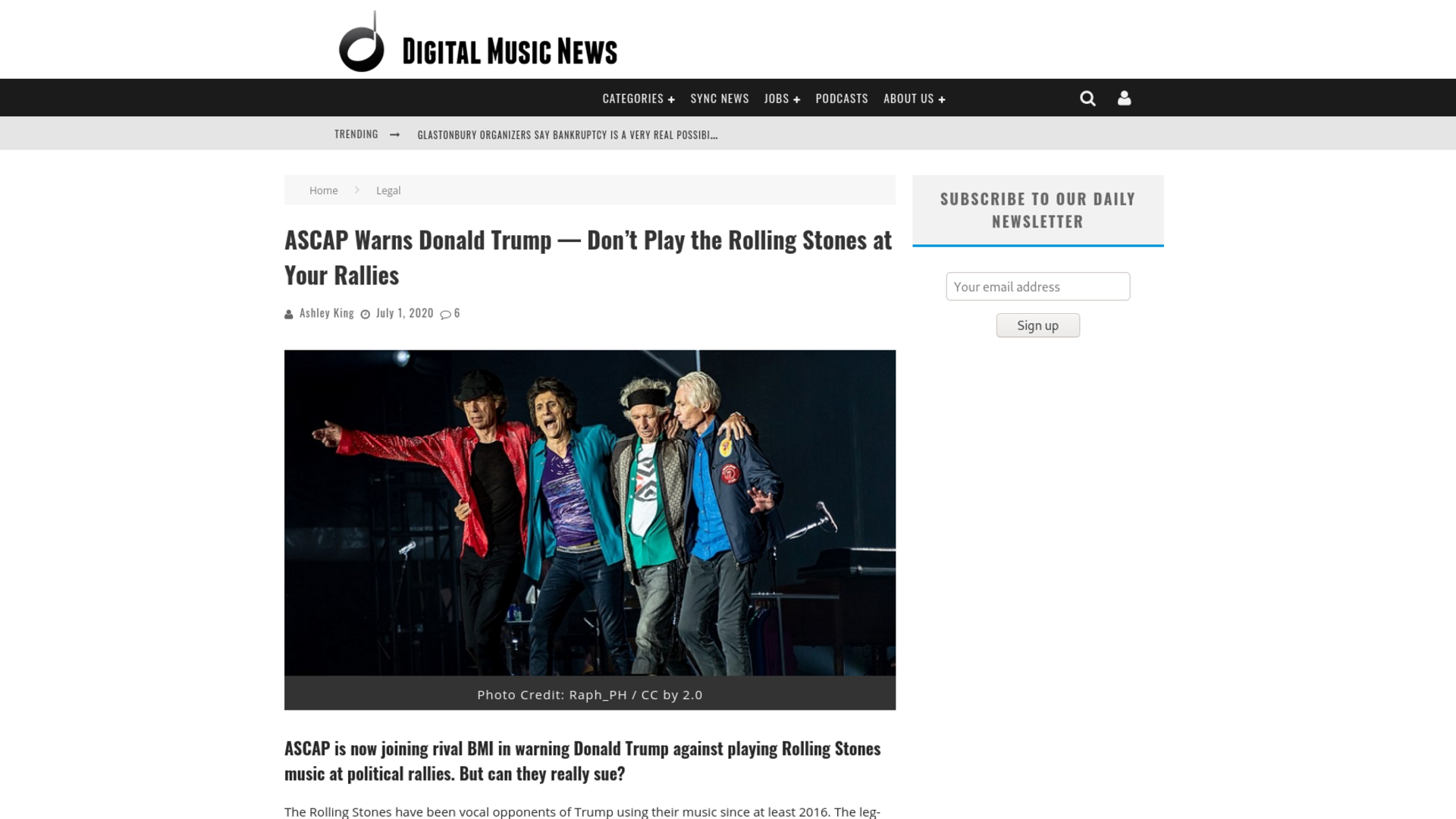 Fairness Rocks News ASCAP Warns Donald Trump — Don't Play the Rolling Stones at Your Rallies