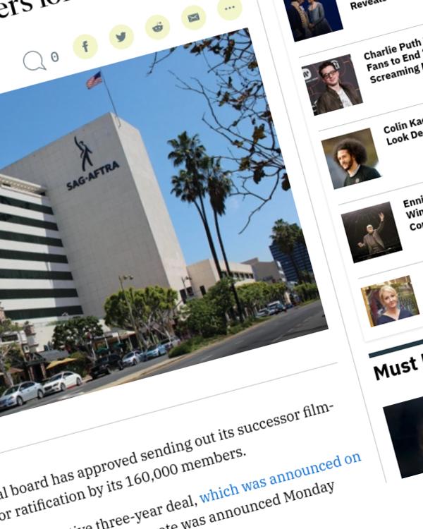 Fairness Rocks News SAG-AFTRA Leaders Approve Sending Successor Deal to Members for Ratification