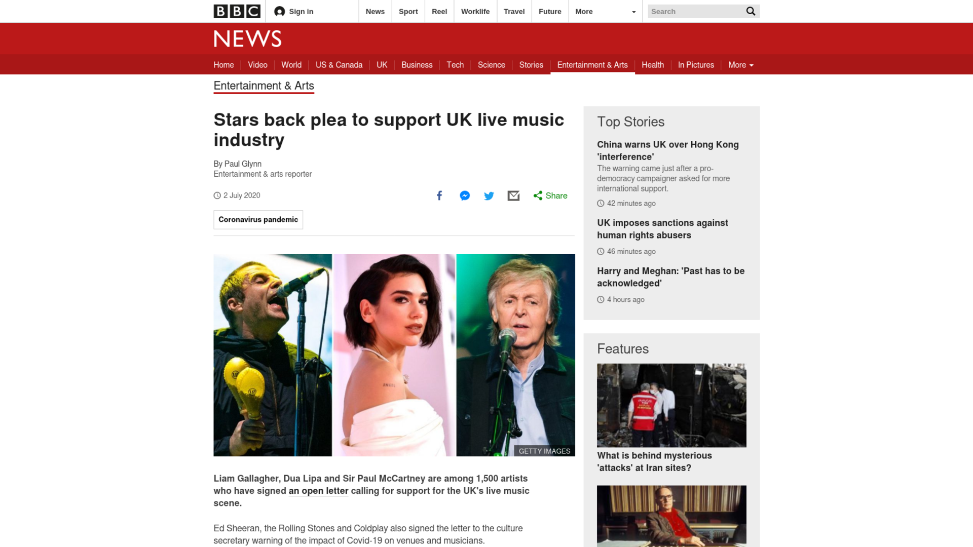 Fairness Rocks News Stars back plea to support UK live music industry