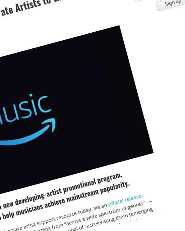 Fairness Rocks News Amazon Music Promises to 'Accelerate Artists to the Mainstream'