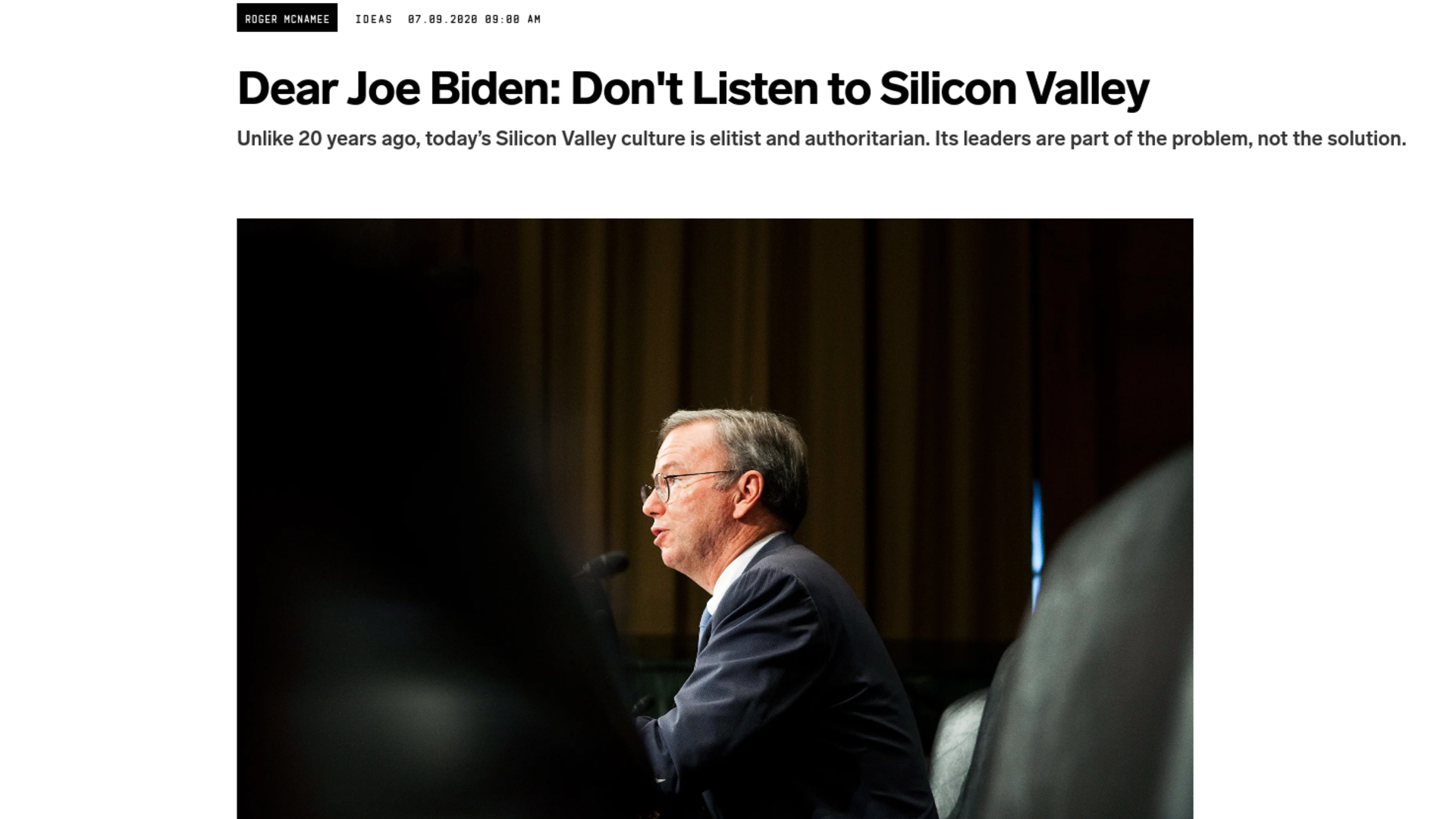 Fairness Rocks News Dear Joe Biden: Don't Listen to Silicon Valley