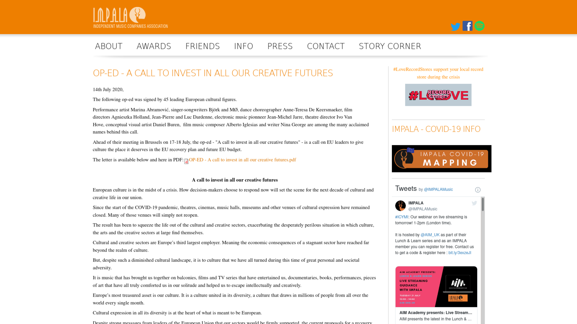 Fairness Rocks News OP-ED – A call to invest in all our creative futures