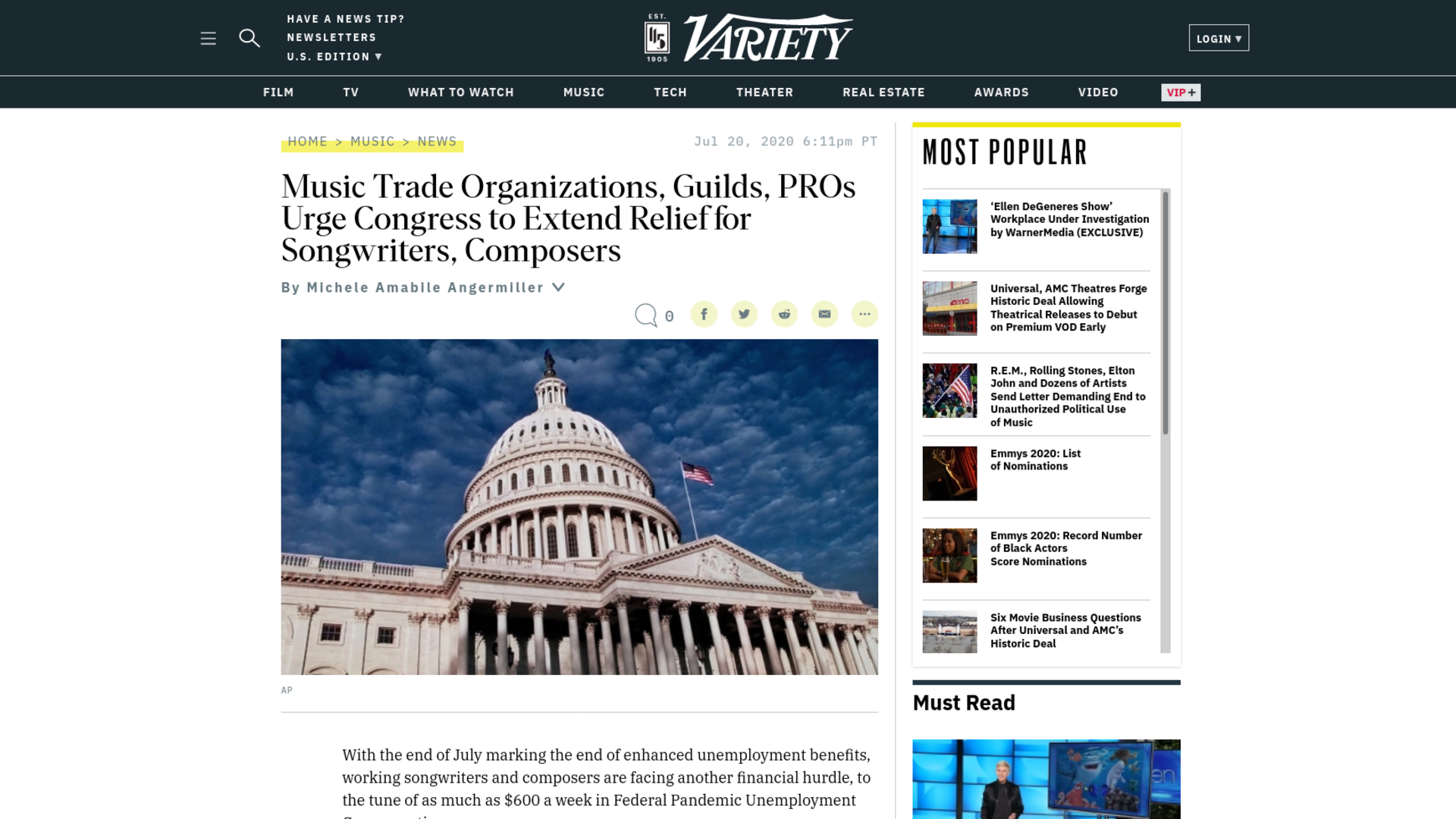 Fairness Rocks News Music Trade Organizations, Guilds, PROs Urge Congress to Extend Relief for Songwriters, Composers