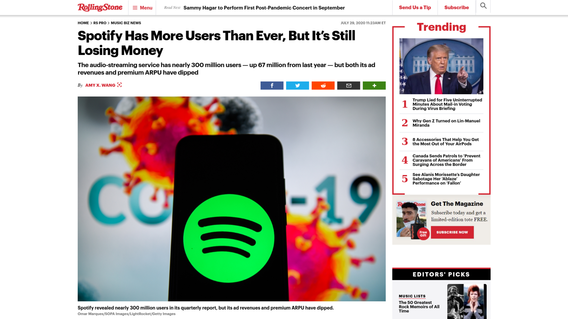 Fairness Rocks News Spotify Has More Users Than Ever, But It's Still Losing Money