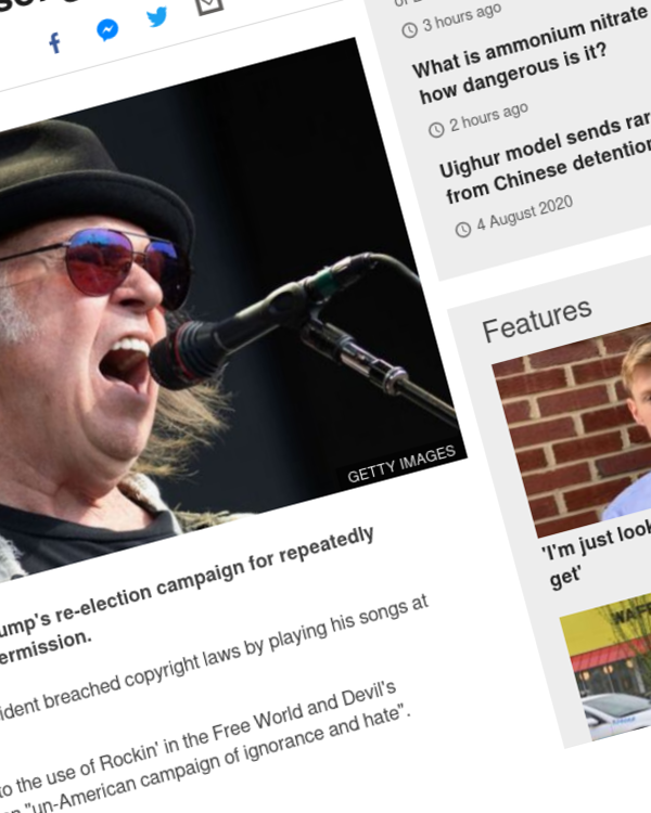 Fairness Rocks News Neil Young sues Donald Trump's campaign for using his songs