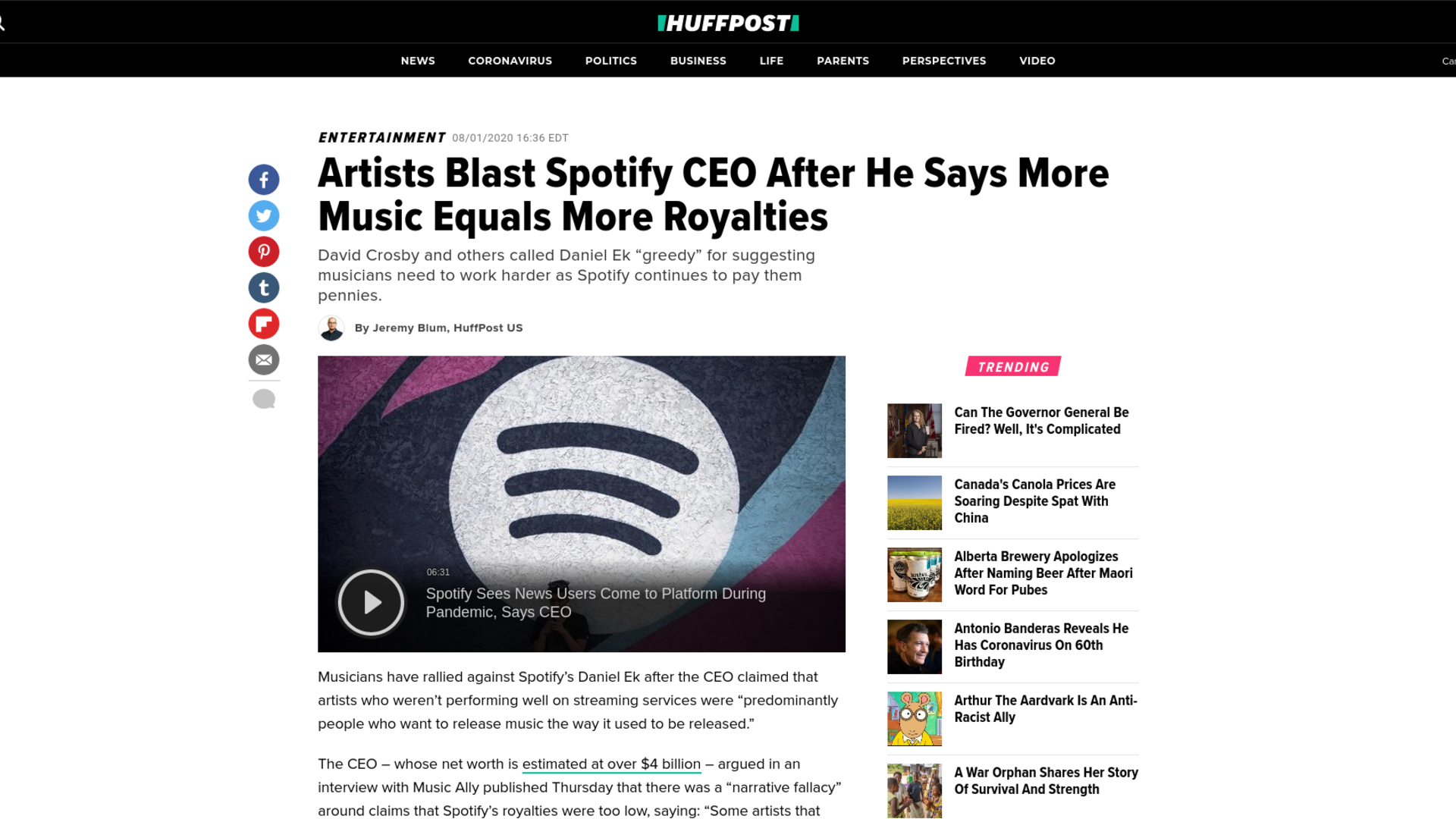 Fairness Rocks News Artists Blast Spotify CEO After He Says More Music Equals More Royalties