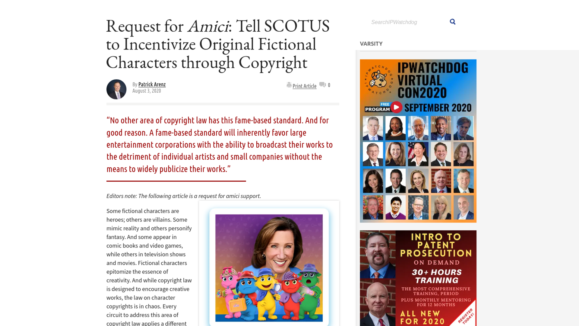 Fairness Rocks News Request for Amici: Tell SCOTUS to Incentivize Original Fictional Characters through Copyright