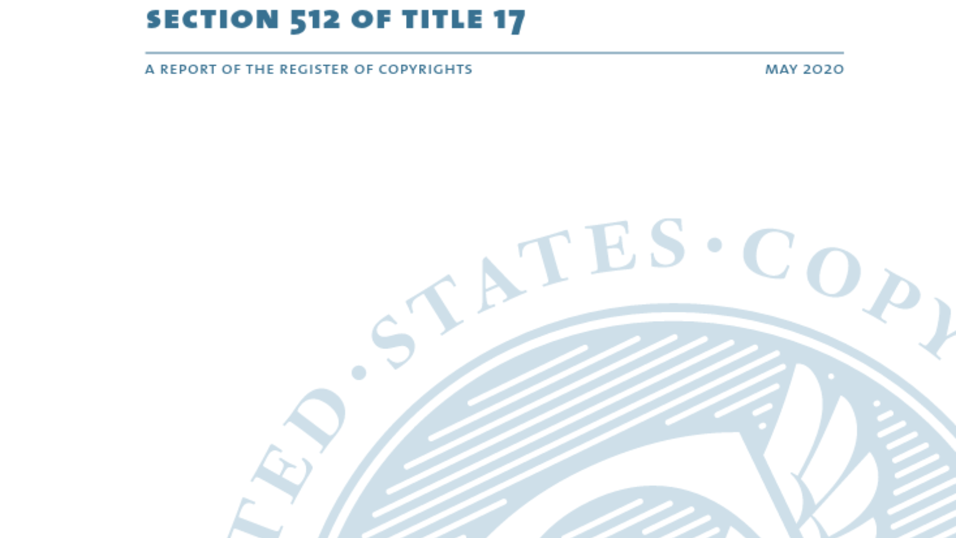 Fairness Rocks News United States Copyright Office Report Section 512