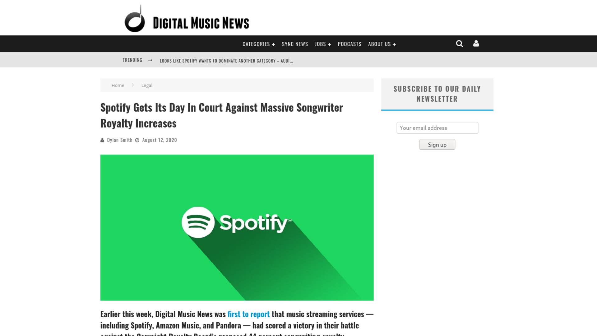 Fairness Rocks News Spotify Gets Its Day In Court Against Massive Songwriter Royalty Increases