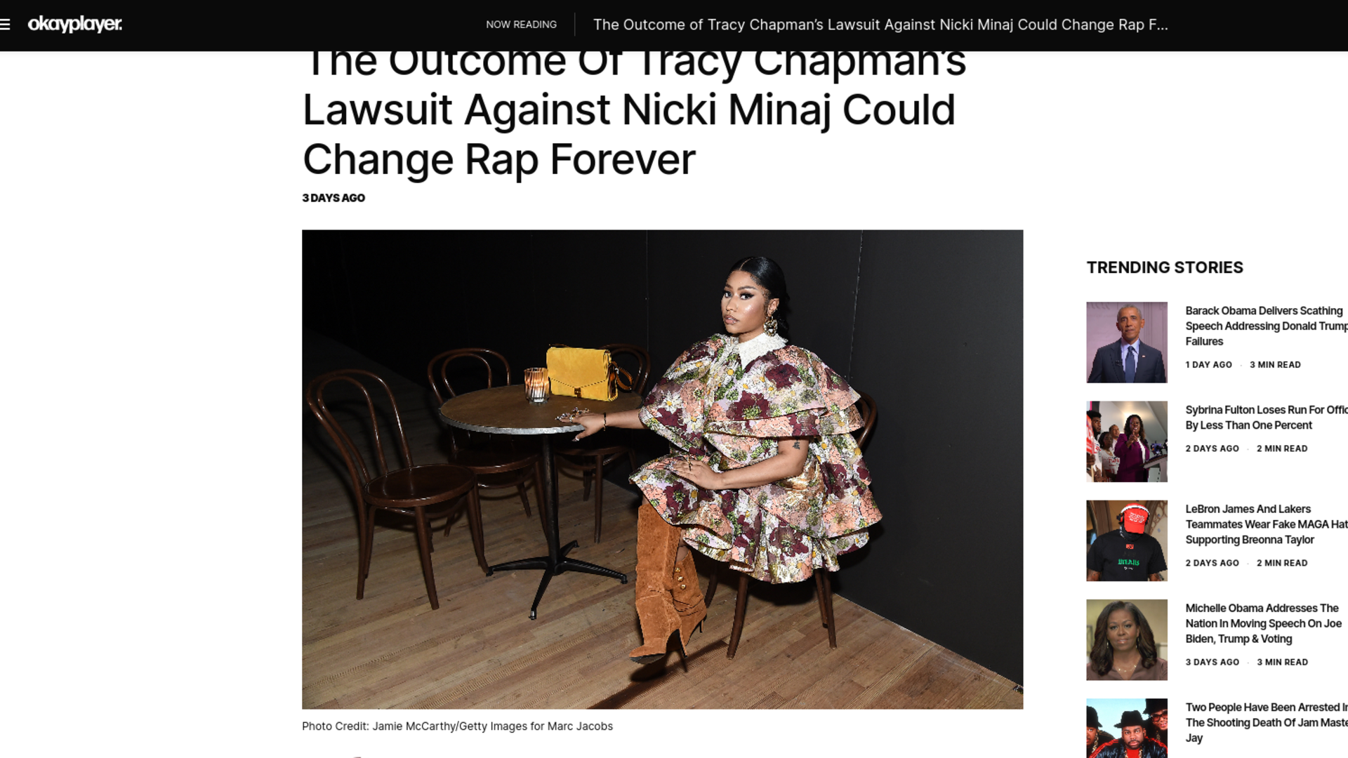 Fairness Rocks News The Outcome of Tracy Chapman's Lawsuit Against Nicki Minaj Could Change Rap Forever