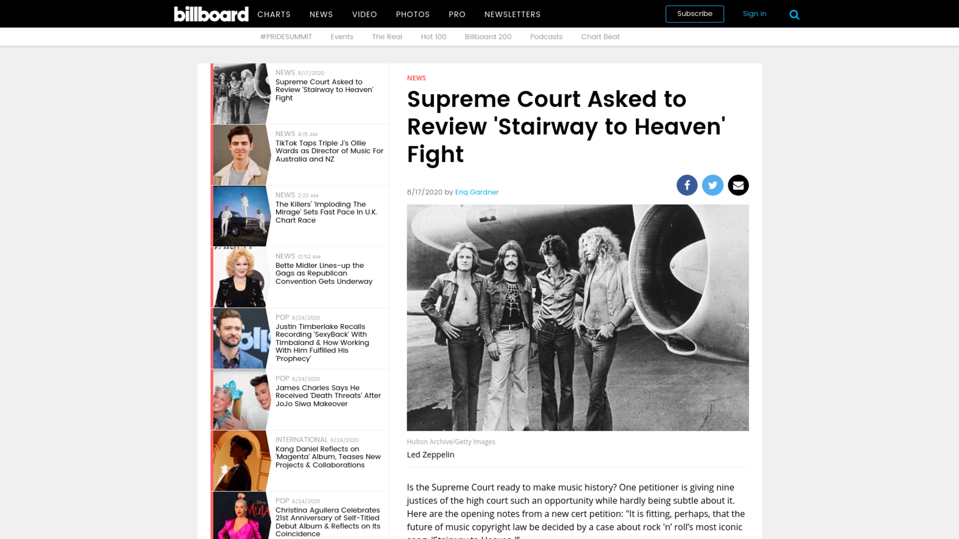 Fairness Rocks News Supreme Court Asked to Review 'Stairway to Heaven' Fight