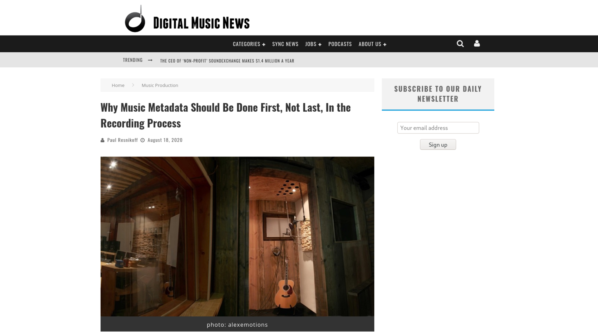 Fairness Rocks News Why Music Metadata Should Be Done First, Not Last, In the Recording Process