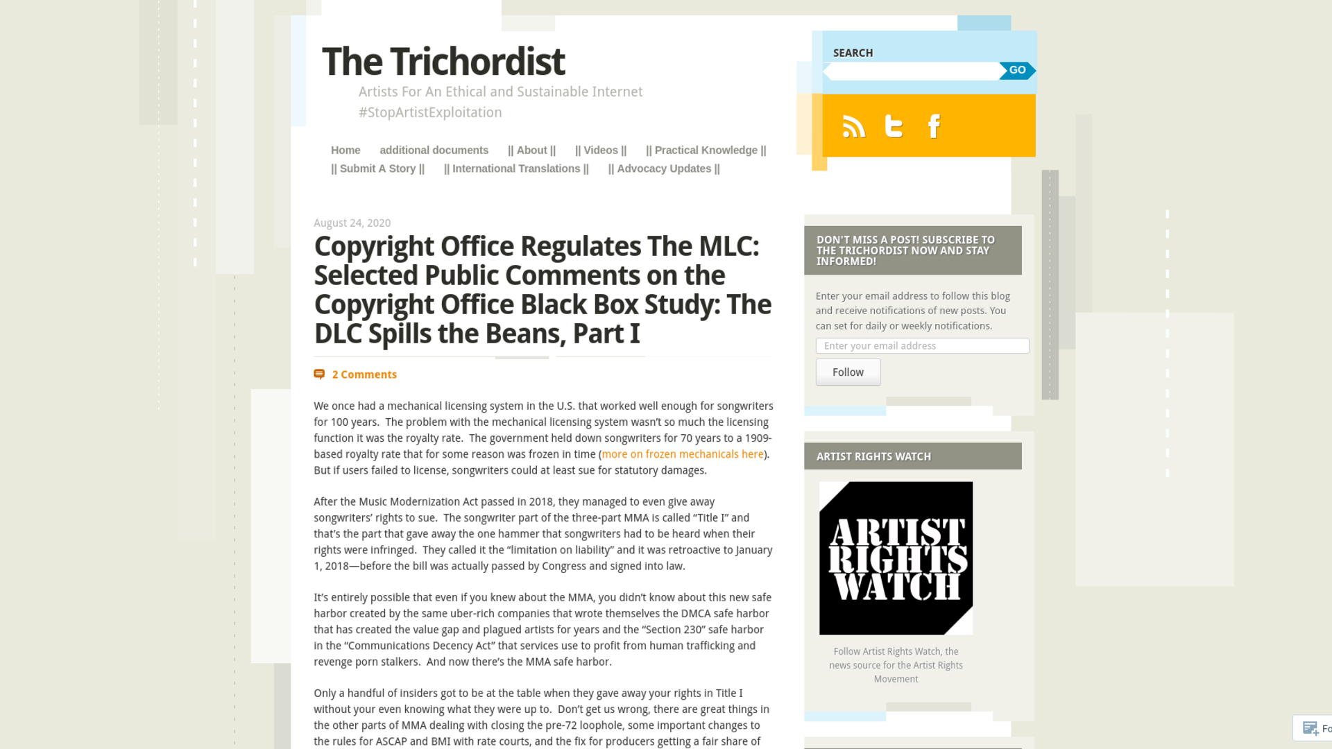 Fairness Rocks News Copyright Office Regulates The MLC: Selected Public Comments on the Copyright Office Black Box Study: The DLC Spills the Beans, Part 3
