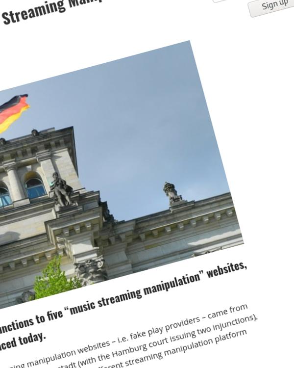 "Fairness Rocks News Germany Cracks Down on 5 ""Music Streaming Manipulation"" Sites"
