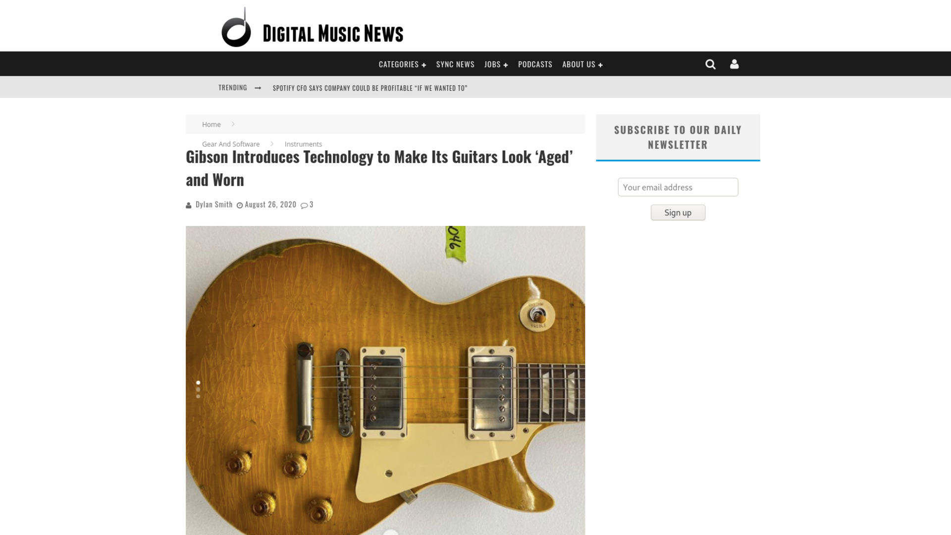 Fairness Rocks News Gibson Introduces Technology to Make Its Guitars Look 'Aged' and Worn