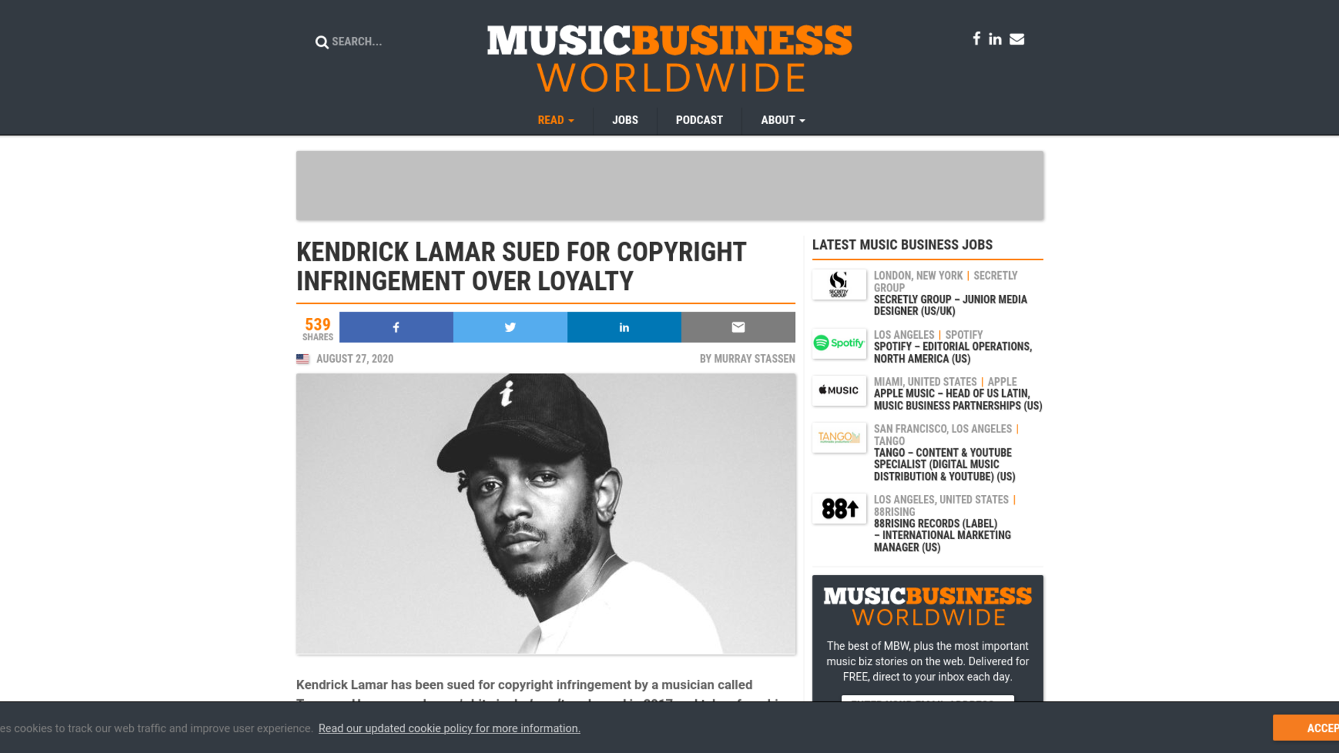 Fairness Rocks News Kendrick Lamar sued for copyright infringement over Loyalty