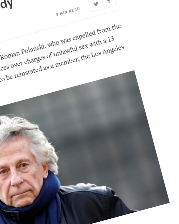 Fairness Rocks News Roman Polanski loses court case over expulsion from Oscar body