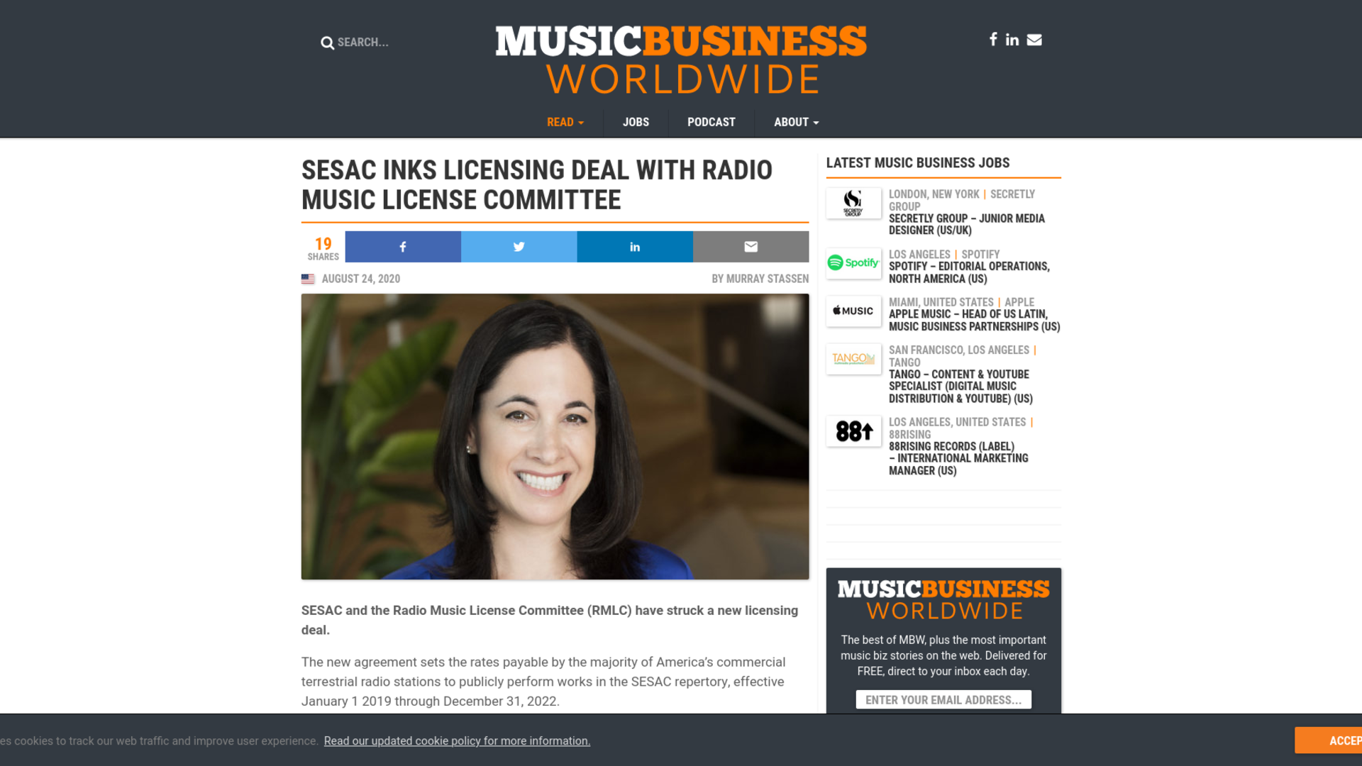 Fairness Rocks News SESAC inks licensing deal with Radio Music License Committee
