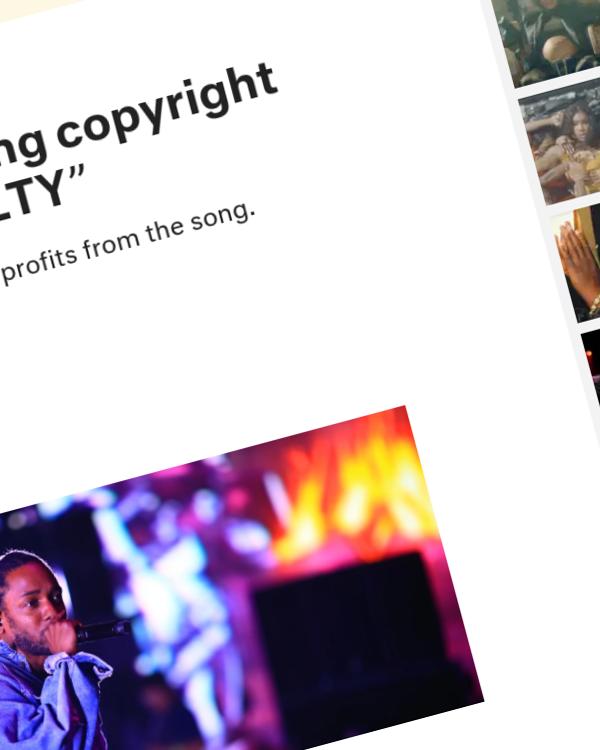 "Fairness Rocks News Kendrick Lamar facing copyright lawsuit over ""LOYALTY"""