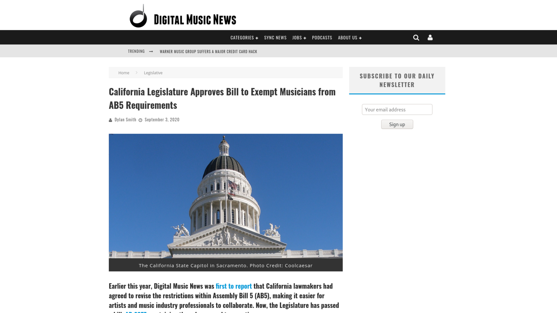 Fairness Rocks News California Legislature Approves Bill to Exempt Musicians from AB5 Requirements