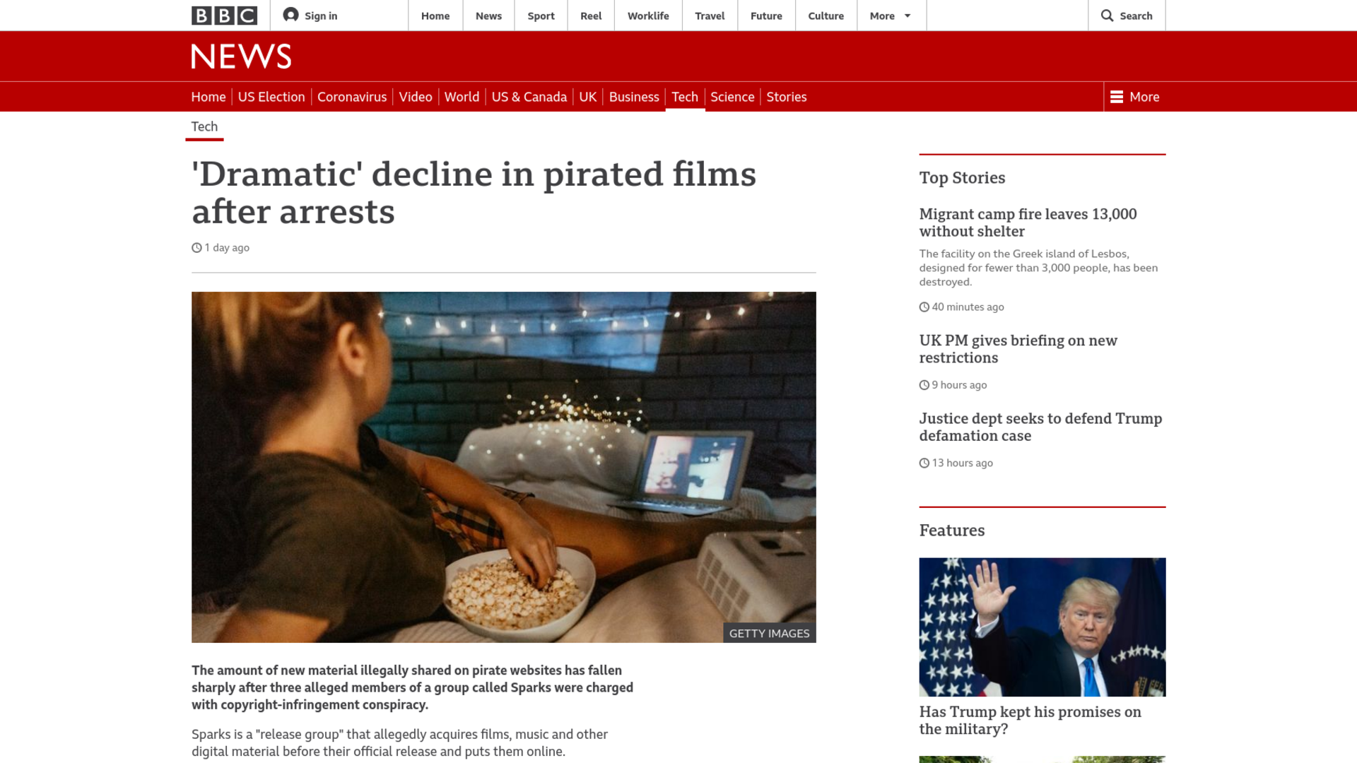 Fairness Rocks News 'Dramatic' decline in pirated films after arrests