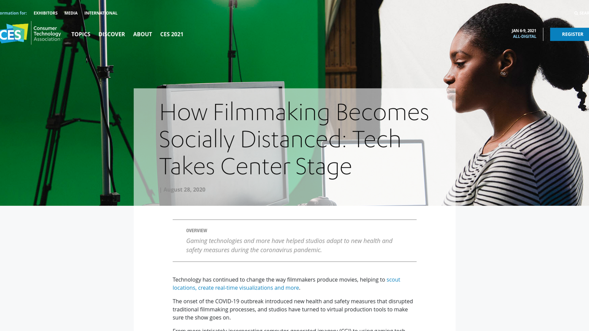 Fairness Rocks News How Filmmaking Becomes Socially Distanced: Tech Takes Center Stage