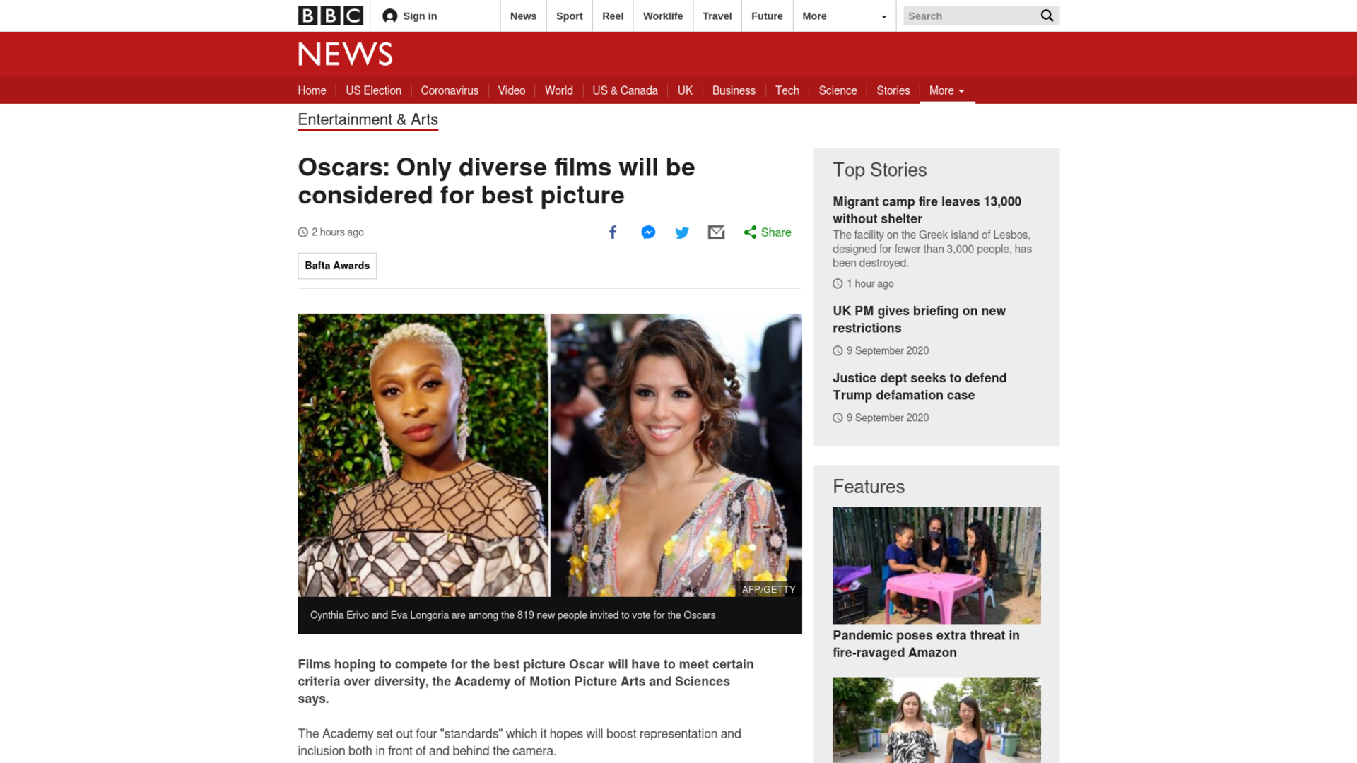 Fairness Rocks News Oscars: Only diverse films will be considered for best picture